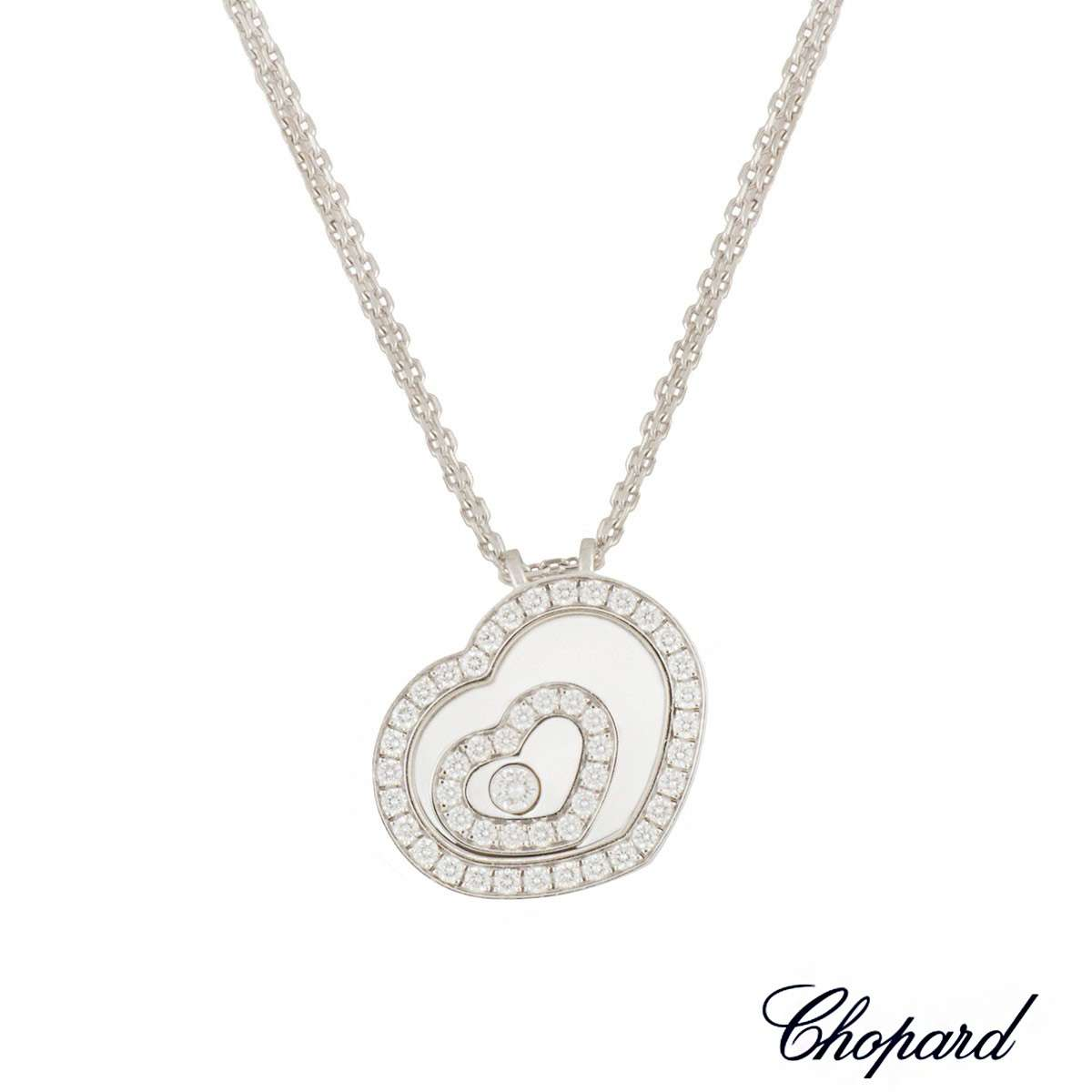 Chopard White Gold Happy Spirit Diamond Pendant